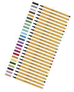 Stabilo Fineliner point 88 Filzstifte Einzelstift, 0,4 mm, 44 Farben wählbar