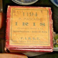 """RULLO PER ORGANETTO DI BARBERIA - P. MASCAGNI """"IRIS"""" - F.I.R.S.T. 1194 fine '800"""