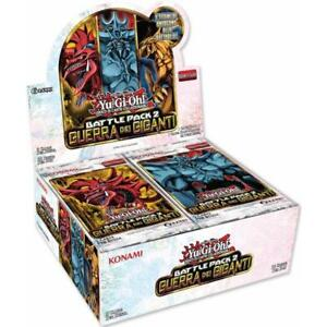 Cards Carte Box 36 Buste Yu-gi-oh yugioh Battle Pack 2 Guerra dei Giganti 1° Ed.