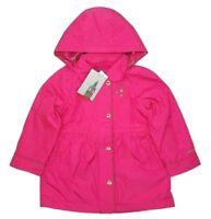 London Fog Girls Fleece Lined Hooded Jacket Fuchsia Choose Size -D