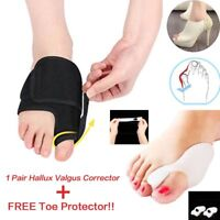 2 Pair Bunion Device Hallux Valgus Orthopedic Braces Toe Corrector Night Big Bon