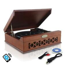Pyle PVNTT6UMRBT Home Audio Vintag Classic Bluetooth Turntable Record Player