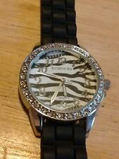 Vintage Rumours Zebra stripes ladies watch, running with new battery NR I