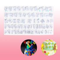 64pcs Alphabet Letters Fondant Cutter Mould Cake Cookie Decorating Baking Molds.