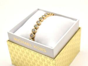 Michael Kors Crystal Bracelet Goldtone Stainless New in Box!