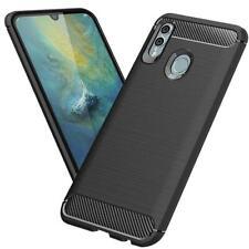 Huawei P Smart 2019 Hülle Schutzhülle TPU Silikon Slim Case Schwarz Cover Carbon