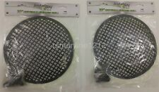 Lot of 2 Install Bay 85-9010 10-Inch Steel Speaker Waffle Grilles with Hardware