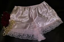103b5c7ab4 Pink Satin Lace French Knickers Underwear Sissy Satin Panties Size 26 ...