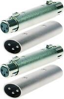 2 Sets XLR Adapter 3-polig male to male + female to female Verbinder Adaptor NEU