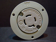 20 Amp 347/600V Flanged Twist Lock Receptacle L23-20 2 Pole 3 W Equal to HBL2536