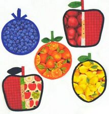 New Pattern FRESH FRUIT Hot Pads and Mitts For the Kitchen