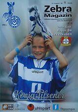 Programma 1999/00 MSV Duisburg-Bayer Leverkusen
