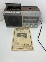 VINTAGE General Electric GE 7-4950A AM/FM Alarm Clock Radio Tape Cassette Player