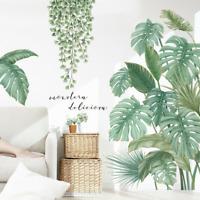 Tropical Green Plants Palm Leaves Vines Garland Wall Decals Vinyl Decal DIY AU