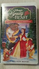 VHS Disney Beauty and The Beast --The Enchanted Christmas