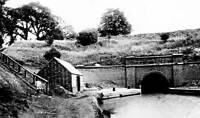 OLD PHOTO England Northamptonshire canal tunnel in Blisworth, Circa 1910