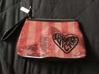 Victoria's Secret Make Up/Cosmetic/toiletries Bag, Sequins, NEW With Tag