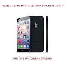 """Lote Pack 2 Protector de Pantalla para iPhone 6 de 4.7"""" Incluye Gamuza"""
