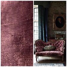 Designer Antique Inspired Velvet Fabric - Dusty Rose - Upholstery