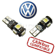 VW Bright Canbus LED Side Light 501 W5W T10 5 SMD White Bulbs Parking Light