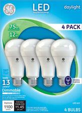 GE Lighting  A21  LED Bulb  Daylight  75 Watt Equivalence 4 pk