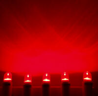 Set 5 x LED 0,6W E14 kl Rot Farbig Lampe Kühlschrank Signal Günstig Lichterkette