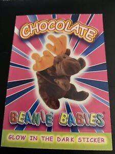 1999 Ty Beanie Babies Series 4 Stickers Chocolate the Moose #CHMO 0b0