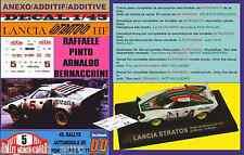 ANEXO DECAL 1/43 LANCIA STRATOS HF RAFFAELE PINTO R.MONTECARLO 1977 (01)
