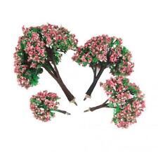 8x Mini Painted Flower Tree Model HO Z N Layout for Landscape Scene Building