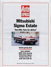 Mitsubishi Sigma Estate Road Test 1993 UK Market Sales Brochure Auto Express