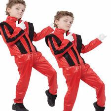 Boys Jackson Superstar Fancy Dress Costume Childs 80s Pop Star 1980s