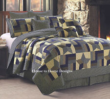 135 150 Star quilt bouti youth bed blue for 90 105