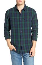 Lucky Brand - Mens XL - NWT - Black Watch Plaid Classic Fit Snap Western Shirt