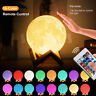 3D Moon Lamp Moonlight USB LED Night Lunar Light Touch 16 Color Changing+Remote
