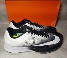New Nike Air Zoom Elite 9 Running Train Shoe Men Size 10.5 White Black 863769001