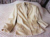 Gold sand cotton mix sheen party jacket by LAURA ASHLEY Size 10 Blazer style