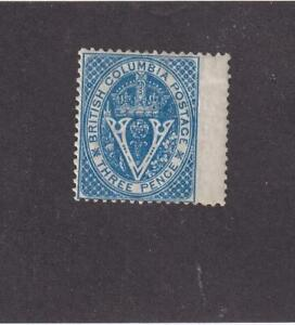 BRITISH COLUMBIA # 7 VF-MH 3d BLUE CAT VALUE $200++