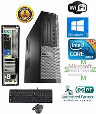 Dell 7010 Desktop Computer Quad Core i7 Windows 10 pro 32 1TB HD 3.40ghz 4gb Ram