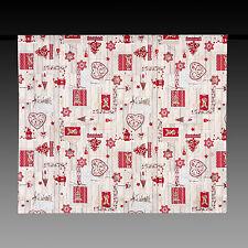 Weihnachtsdecke weiss Rot mit Elch , Landhausstil 175x140 100% Baumwolle NEU
