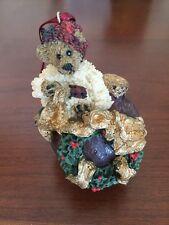 Boyds Bears, Edmund.Deck the Halls Ornament, Nib