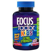 Focus Factor Kids Extra Strength - Multivitamin & Neuro Nutrients (120 Count)