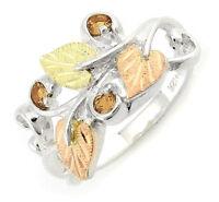 Landstrom's® Black Hills Gold on Silver Birthstone Ring - Gold Topaz Size 4-10