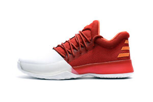 Adidas James Harden Vol. 1 Scarlett / White / Energy: Size 10.5 UK A