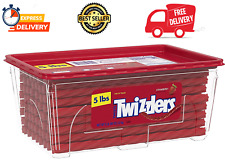New listing Twizzlers Bulk Strawberry Licorice Candy, 5 Pounds, Canister - Fastshipping