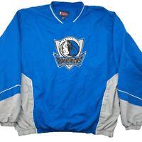 NBA Men's 2XL Blue Dallas Mavericks Pullover Windbreaker Coat Jacket