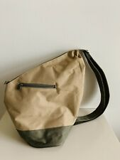 Yves Rocher Make Up Cosmetic Bag. Safari Tan And Olive Green Pack