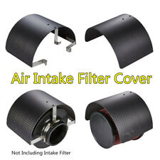 "Carbon Fiber Look Air Intake Filter Cover Heat Shield For Car 2.5""-5.5"" Filter"