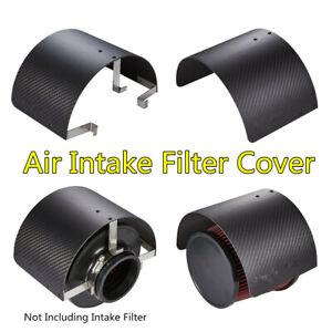 "Carbon Fiber Look Air Intake Filter Cover Heat Shield For Car 2.5""-5.5"" Filter"