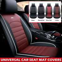 Universal Full Car Seat Covers Mat PU Leather Pad Breathable Cushion Pad Set ☇