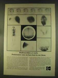 1976 Kodak Nuclear Medicine Field Ad - Radionuclides